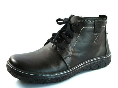 9f14627298163 Pánske zateplené kožené topánky v dvoch farbách-Obuv Carmen