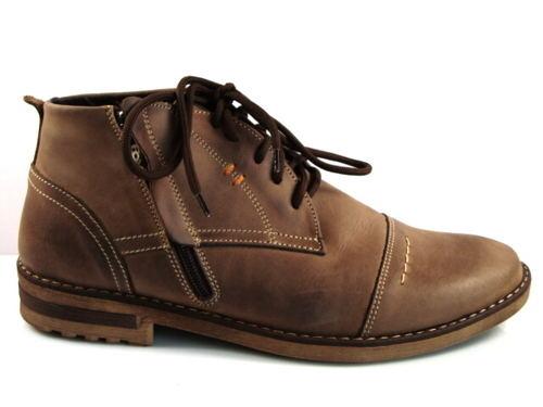 8e64d6f492f7 FOX-pánske čierne zateplené kožené topánky-Obuv Carmen