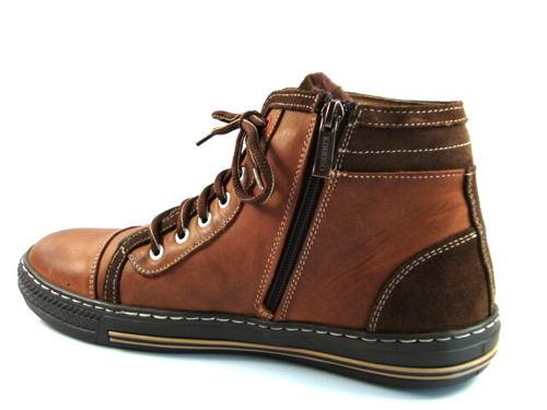 Pánske kožené športové zateplené topánky-Obuv Carmen 4dd65933cfe