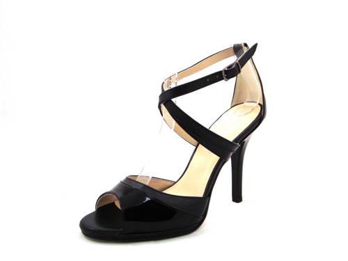 8e5dd366a216 Elegantné čierne kožené sandálky zn.Angela Monti - Obuv Carmen