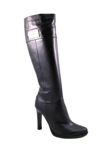 c7bcdecc9484b Visconi-elegantné čierne kožené čižmy na podpätku - Obuv Carmen