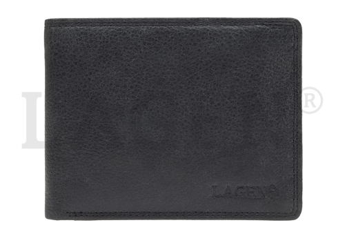 LAGEN-pánska RFID čierna kožená peňaženka - Obuv Carmen 7f7372eec36