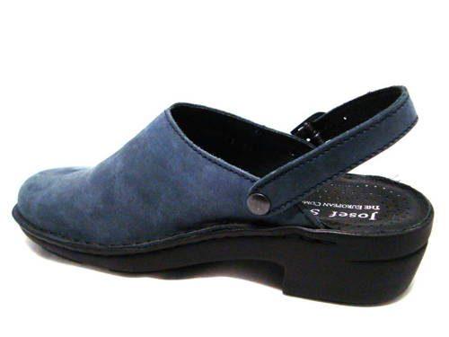 662bbe7ee404 Josef Seibel-komfortné dámske modré kožené vsuvky