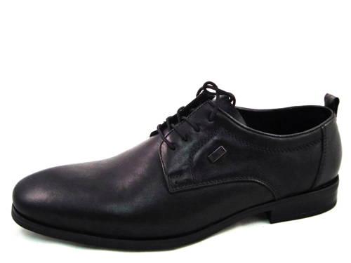 Vychádzkové pánske čierne kožené topánky zn. RIEKER - Obuv Carmen 27f53cbf1a0
