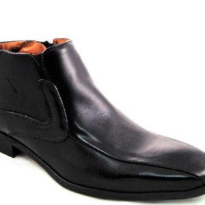 Pánske elegantné čierne kotníkové topánky - Obuv Carmen e5c6f10134a