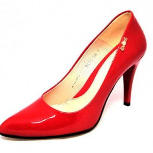 Dámske červené lakované lodičky Embis - Obuv Carmen c50a6c7846