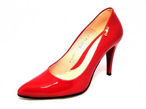 b5b8cfd10d Dámske červené lakované lodičky Embis - Obuv Carmen