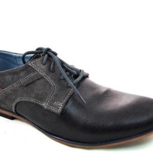 a324af2981 Pohodlné kožené čierno-sivé pánske topánky zn.MATEO-Obuv Carmen