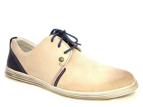 ce095753b42b Kvalitné pánske svetlo-béžové šnurovacie topánky - Obuv Carmen