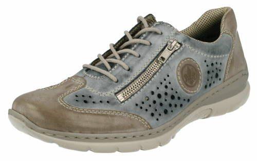 e22a81b6c6 Rieker - perforované modro-sivé športové topánky - Obuv Carmen