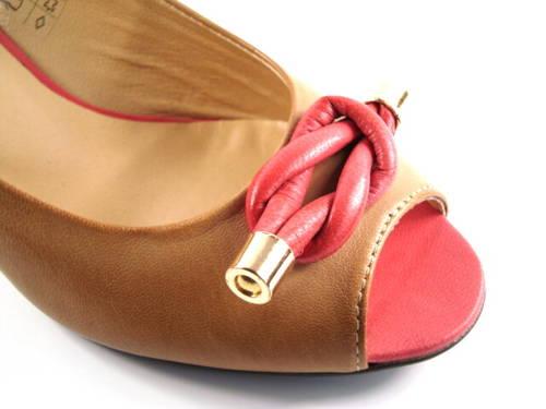 50ef023054 Hnedé kožené topánky s otvorenou špicou-Obuv Carmen