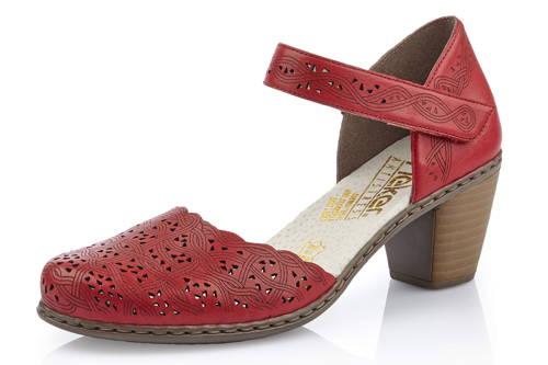 4ba727e5738a Rieker-bordové perforované kožené sandálky-Obuv Carmen