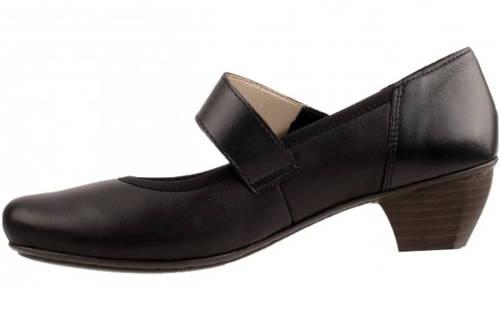 Rieker-čierne vychádzkové topánky s remienkom-Obuv Carmen 8c6c9a5e7c8