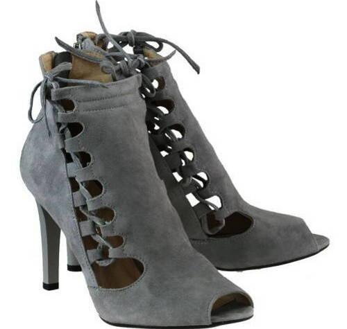 7ddb1d7024820 Šnurovacie sivé velúrové topánky M.M.Oleksy
