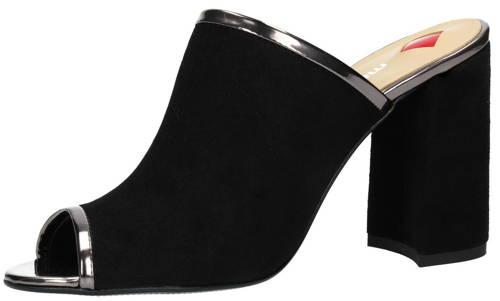 4b89f1c072bc Luxusné čierno strieborné šľapky na podpätku zn.Maccioni-Obuv Carmen