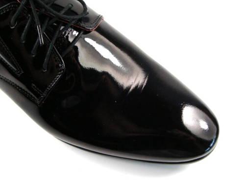 1c117132f Pánske čierne lakované spoločenské topánky - Obuv Carmen