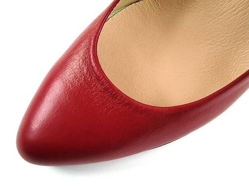 95faf23cf5 Embis - červené matné lodičky na nízkom podpätku-Obuv Carmen