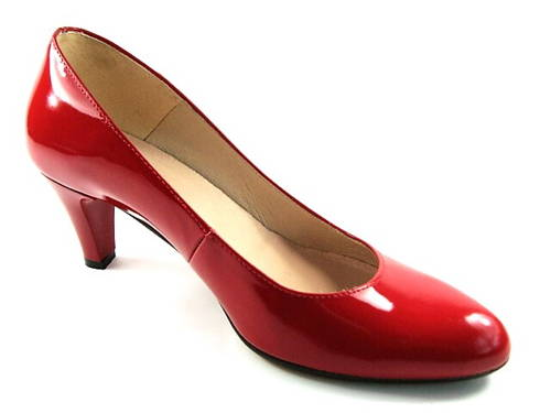 0570de4923c07 Embis - červené lakované lodičky na nízkom podpätku-Obuv Carmen