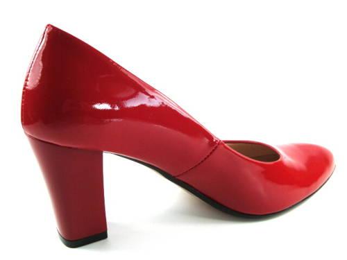 16c93531ba Embis-červené lakované topánky na hrubšom podpätku-Obuv Carmen