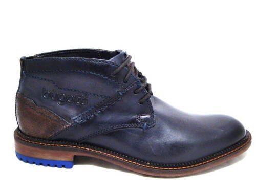 f5ea586256611 Štýlové modré šnurovacie topánky zn.Bugatti - Obuv Carmen