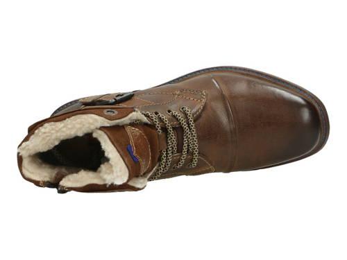 Bugatti-štýlové hnedé kožené zateplené čižmy -Obuv Carmen 062e2d0b067