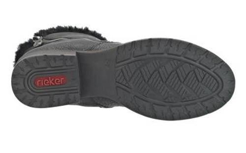 Rieker-pohodlné čierne kotníkové čižmy-Obuv Carmen dd4a6ae43f4