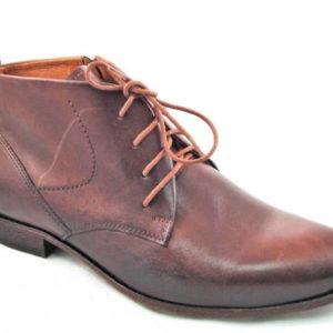 14be228accd1 Elegantné pánske kožené hnedé kotníkové topánky-Obuv Carmen