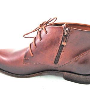 Elegantné pánske kožené hnedé kotníkové topánky-Obuv Carmen 17a9de49933