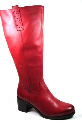 562d210957 ACORD-červené kožené čižmy s XL-sárou-Obuv Carmen