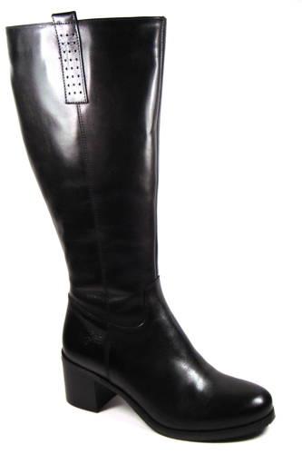 ACORD-čierne kožené čižmy s XL-sárou dac0e707329