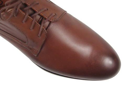 b9504f0df6f1 AGDA- hnedé kožené šnurovacie topánky - Obuv Carmen