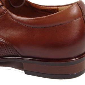 8188d3c2e32b Spoločenské hnedé kožené šnurovacie topánky-Obuv Carmen