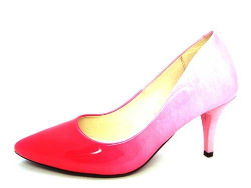 e8c4694a1e07 Ružové kožené lodičky na nízkom podpätku zn.Arturo-Obuv Carmen