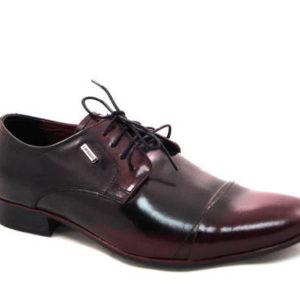 5b53ee6f29e88 Pánske čierno-bordové topánky zn.Lavaggio - Obuv Carmen