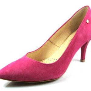 06118d0418fd Claudio Dessi-ružové velúrové kožené lodičky-Obuv Carmen