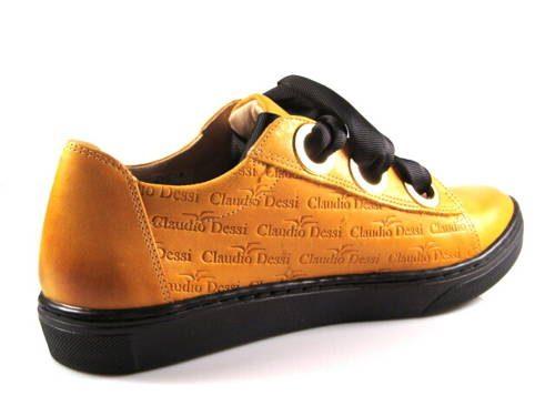 ff77e8347c46 Claudio Dessi-štýlové horčicové šnurovacie topánky