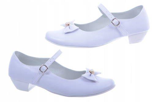617afb2855a2a Dievčenské biele spoločenské topánky - Obuv Carmen