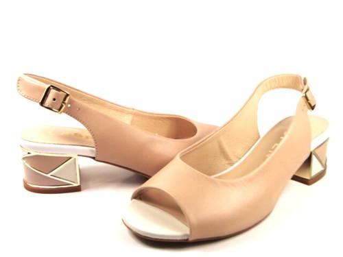 ff291adaba Kordel-béžové sandálky na nízkom podpätku-Obuv Carmen