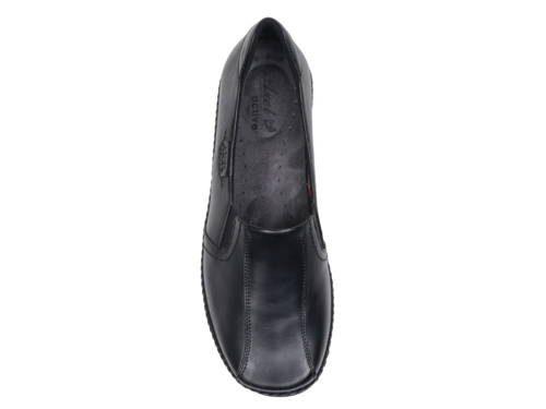 56020e6e666a Axel-čierne kožené zdravotné vychádzkové topánky