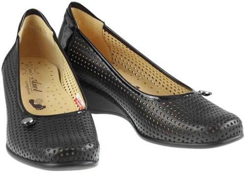 f35883dc9ef2d Čierne kožené perforované zdravotné topánky-Obuv Carmen