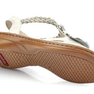 46c51eb4dd030 Rieker-ľahučké bielo/strieborné otvorené sandálky - Obuv Carmen