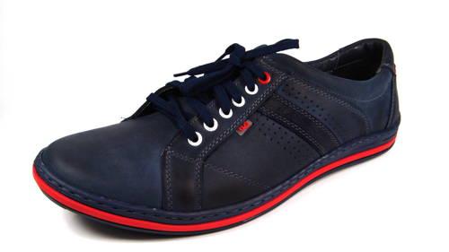 ba4ff35f9fe0 Fox-modré kožené šnurovacie športové topánky - Obuv Carmen