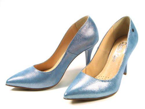 936871b415 Claudio Dessi-elegantné modré kožené lodičky