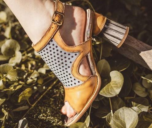 Dámska letná obuv-podpätky